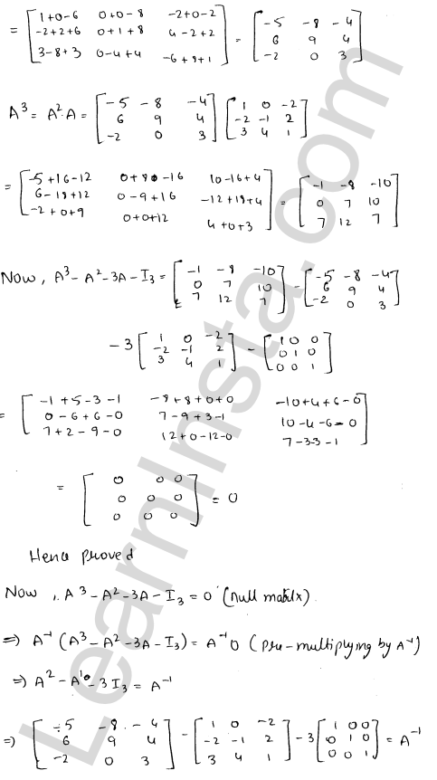 RD Sharma Solutions Class 12 Adjoint and Inverse of a Matrix Chapter 7 Ex 7.1 34