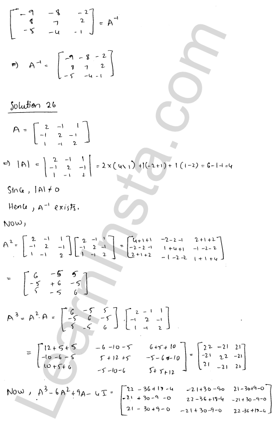 RD Sharma Solutions Class 12 Adjoint and Inverse of a Matrix Chapter 7 Ex 7.1 35
