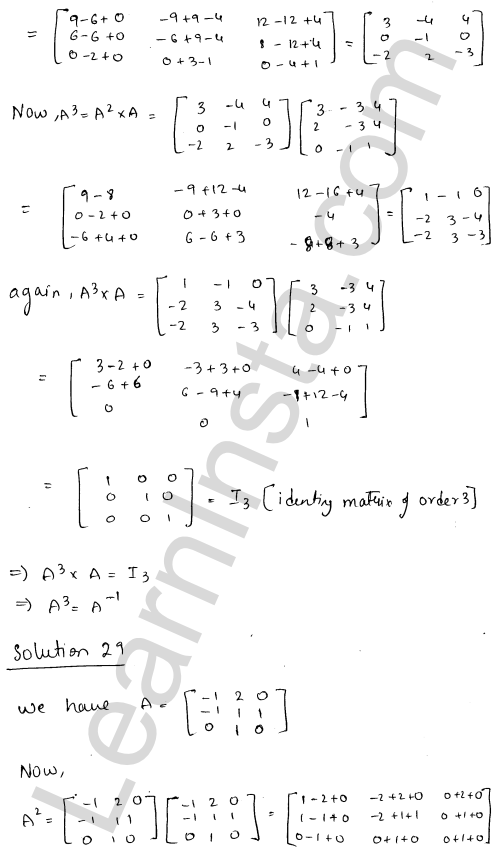 RD Sharma Solutions Class 12 Adjoint and Inverse of a Matrix Chapter 7 Ex 7.1 38