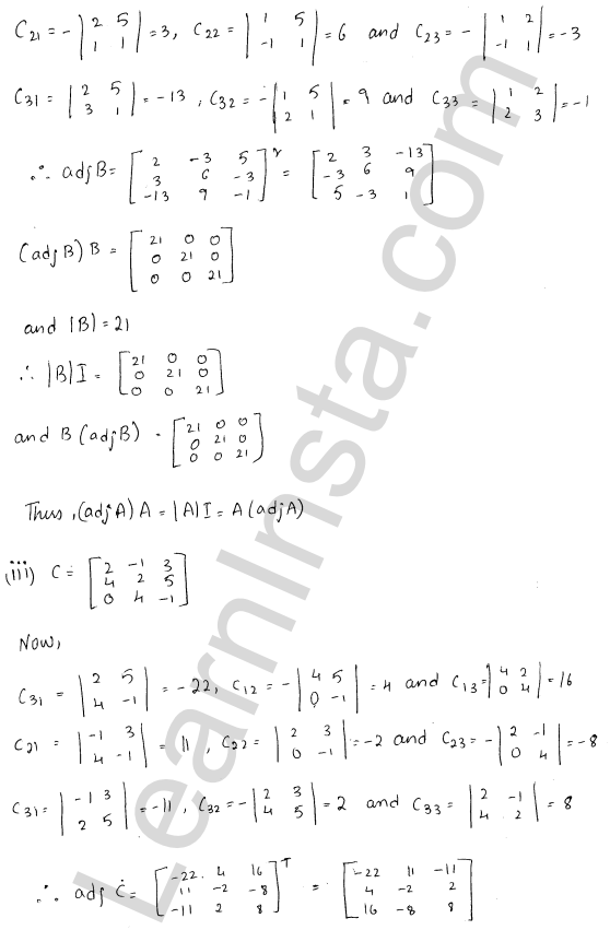 RD Sharma Class 12 Solutions Chapter 7 Adjoint and Inverse of a Matrix Ex 7.1 4