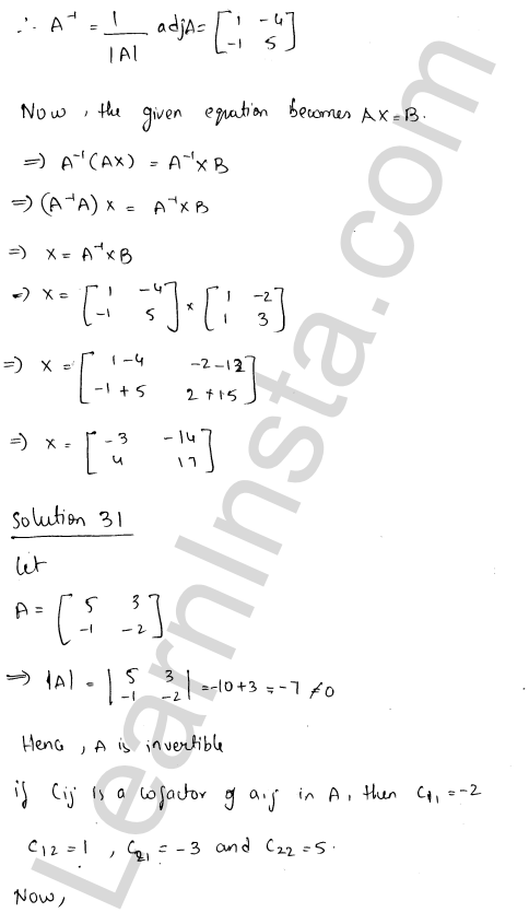 RD Sharma Solutions Class 12 Adjoint and Inverse of a Matrix Chapter 7 Ex 7.1 40
