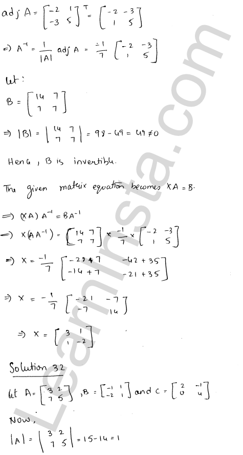 RD Sharma Class 12 Maths Solutions Chapter 7 Adjoint and Inverse of a Matrix Ex 7.1 41