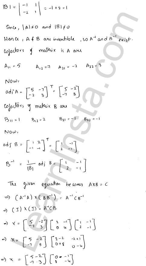 RD Sharma Class 12 Maths Solutions Chapter 7 Adjoint and Inverse of a Matrix Ex 7.1 42