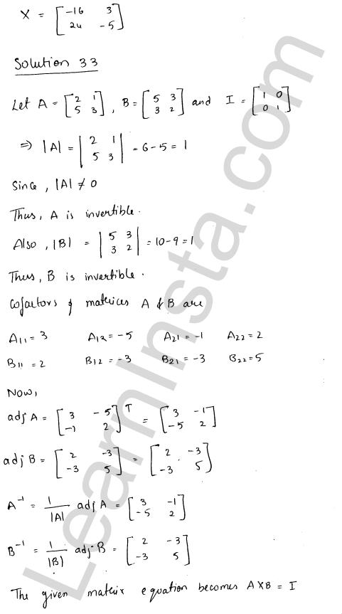 RD Sharma Class 12 Maths Solutions Chapter 7 Adjoint and Inverse of a Matrix Ex 7.1 43