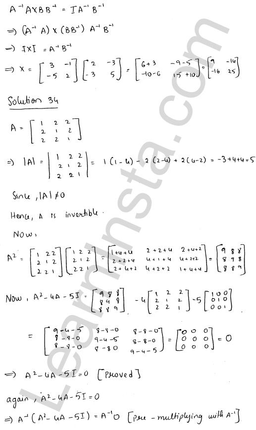 RD Sharma Class 12 Maths Solutions Chapter 7 Adjoint and Inverse of a Matrix Ex 7.1 44