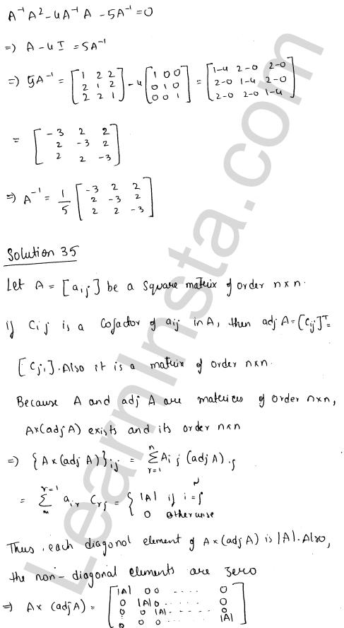 RD Sharma Class 12 Maths Solutions Chapter 7 Adjoint and Inverse of a Matrix Ex 7.1 45