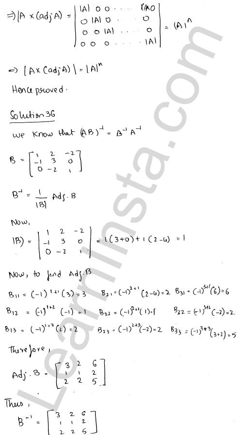 RD Sharma Class 12 Maths Solutions Chapter 7 Adjoint and Inverse of a Matrix Ex 7.1 46