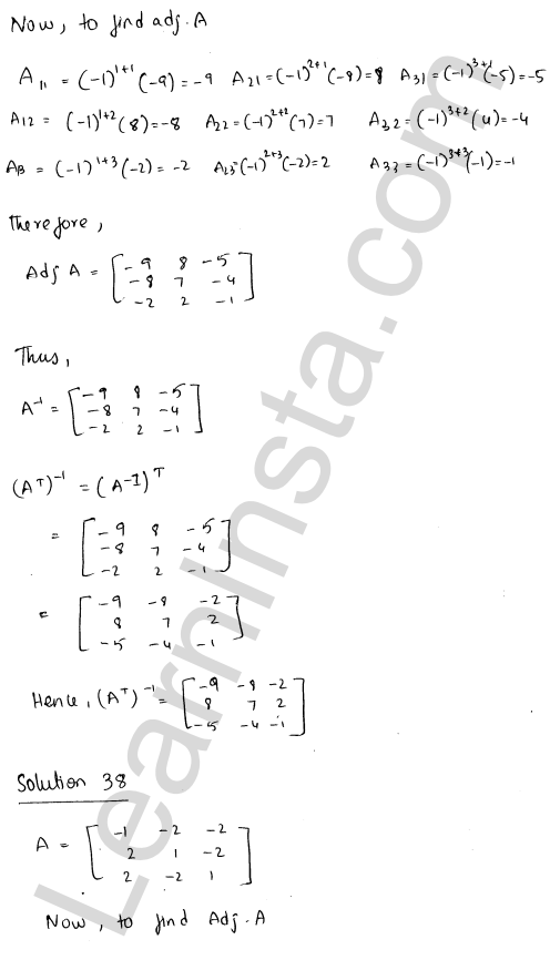 RD Sharma Class 12 Solutions Adjoint and Inverse of a Matrix Chapter 7 Ex 7.1 48