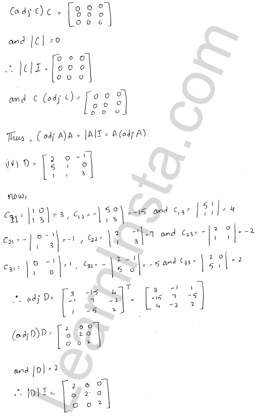 RD Sharma Class 12 Solutions Chapter 7 Adjoint and Inverse of a Matrix Ex 7.1 5