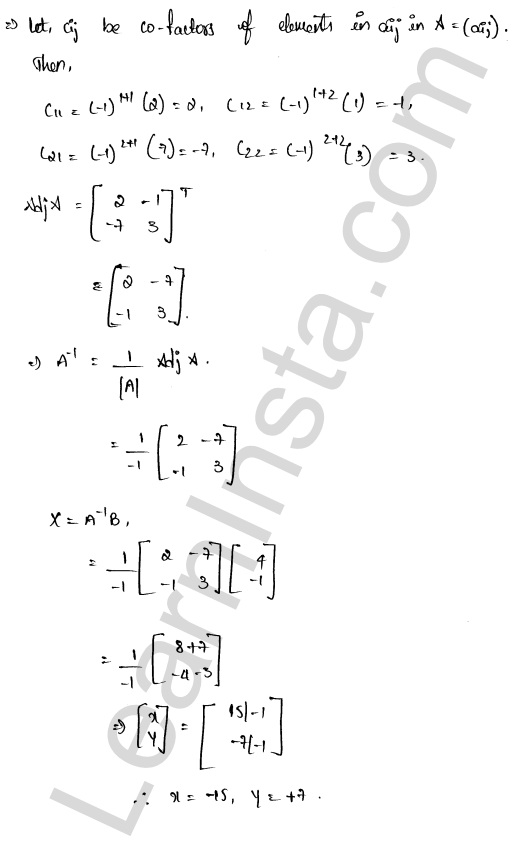 RD Sharma Solutions Class 12 Solution of Simultaneous Linear Equations Chapter 8 Ex 8.1 16