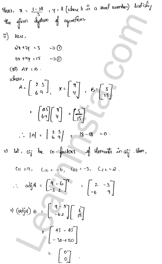 RD Sharma Class 12 Maths Solutions Chapter 8 Solution of Simultaneous Linear Equations Ex 8.1 20