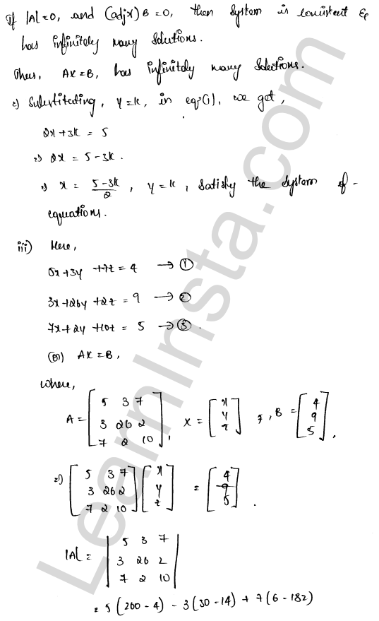 RD Sharma Class 12 Maths Solutions Chapter 8 Solution of Simultaneous Linear Equations Ex 8.1 21