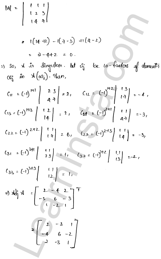 class 12 RD Sharma solutions chapter 8 Solution of Simultaneous Linear Equations Ex 8.1 29