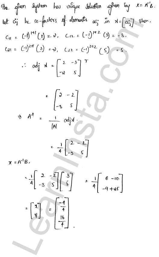 RD Sharma Class 12 Solutions Chapter 8 Solution of Simultaneous Linear Equations Ex 8.1 3