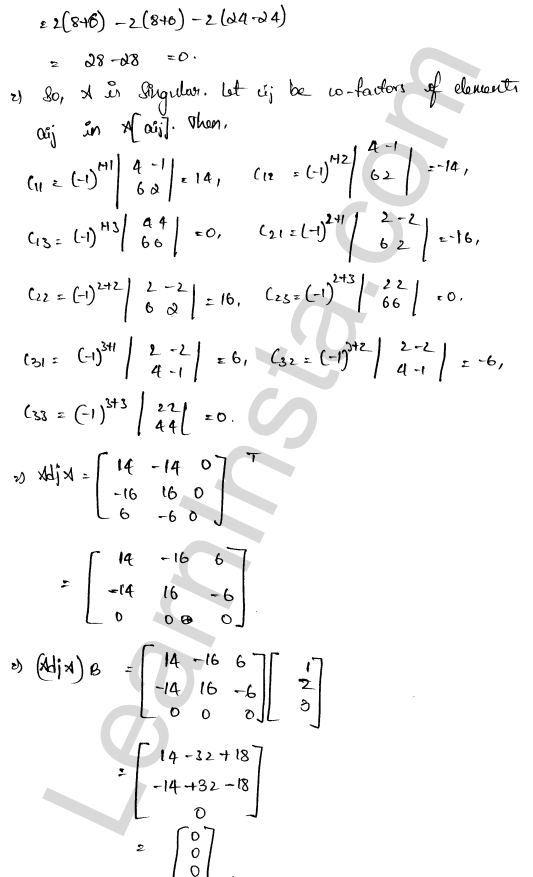 class 12 RD Sharma solutions chapter 8 Solution of Simultaneous Linear Equations Ex 8.1 31