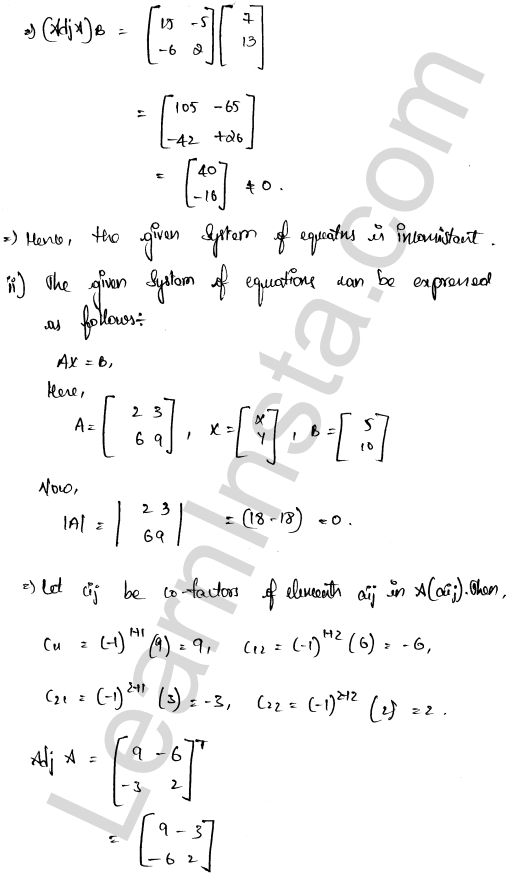 class 12 RD Sharma solutions chapter 8 Solution of Simultaneous Linear Equations Ex 8.1 34