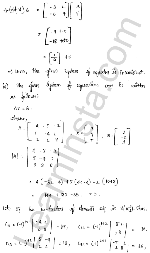 class 12 RD Sharma solutions chapter 8 Solution of Simultaneous Linear Equations Ex 8.1 36