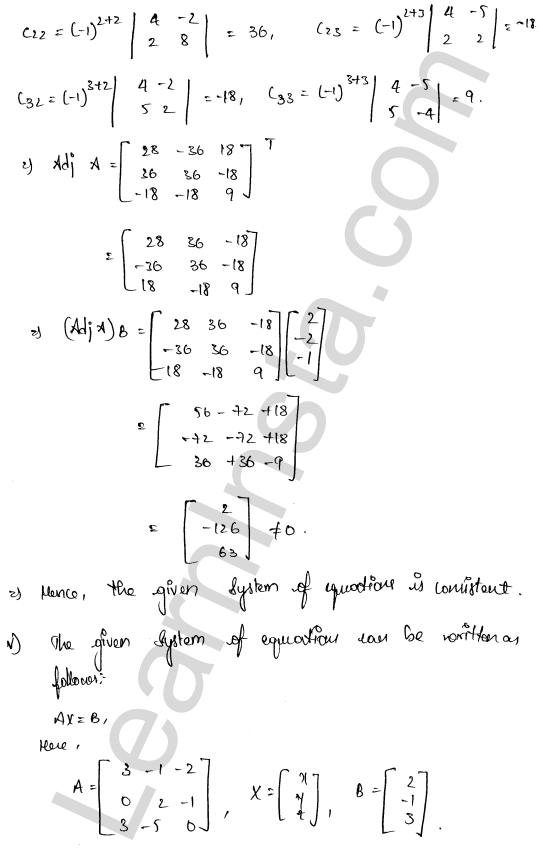 class 12 RD Sharma solutions chapter 8 Solution of Simultaneous Linear Equations Ex 8.1 37