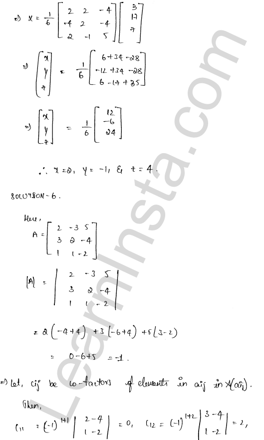class 12 RD Sharma maths solutions chapter 8 Solution of Simultaneous Linear Equations Ex 8.1 42