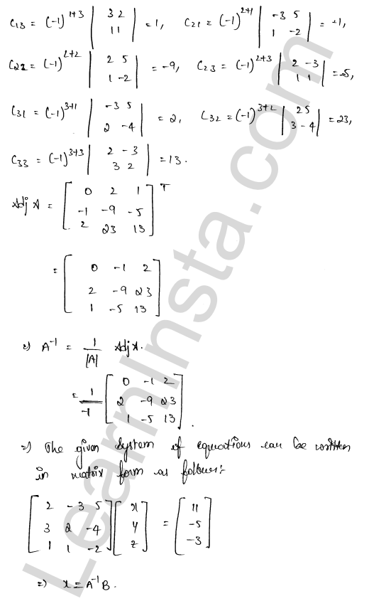 RD Sharma Class 12 Solutions Chapter 8 Solution of Simultaneous Linear Equations Ex 8.1 43