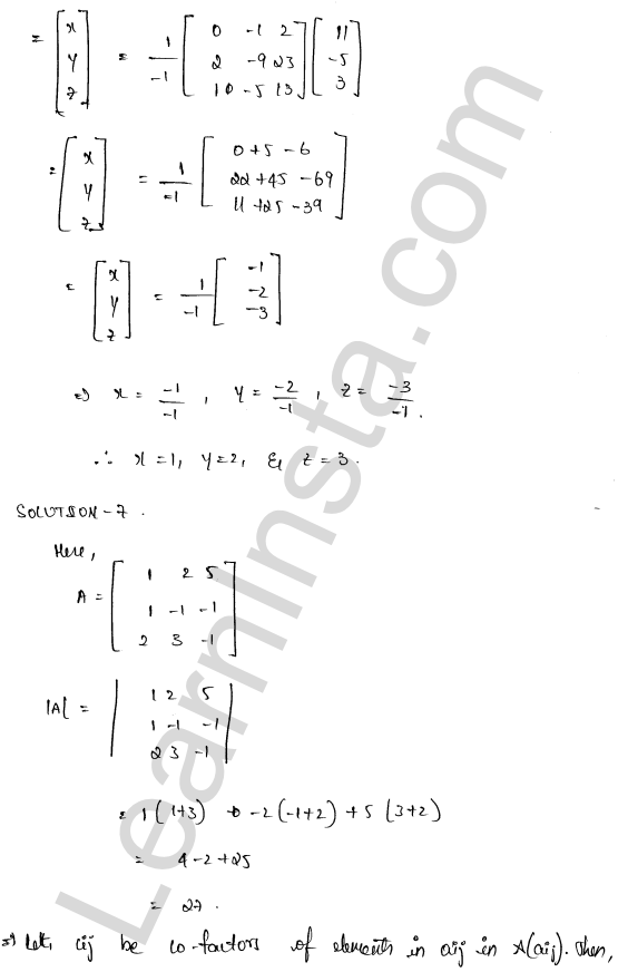 RD Sharma Class 12 Solutions Chapter 8 Solution of Simultaneous Linear Equations Ex 8.1 44