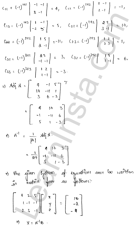 RD Sharma Class 12 Solutions Chapter 8 Solution of Simultaneous Linear Equations Ex 8.1 45