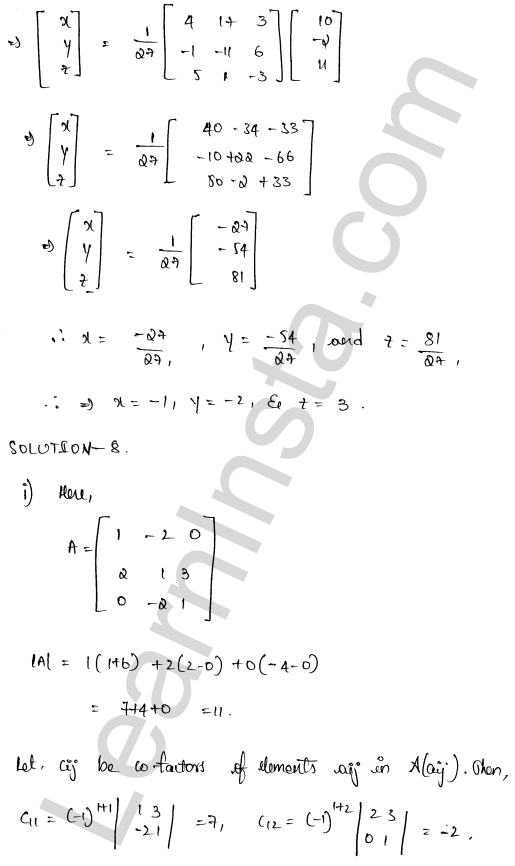 RD Sharma Class 12 Solutions Chapter 8 Solution of Simultaneous Linear Equations Ex 8.1 46