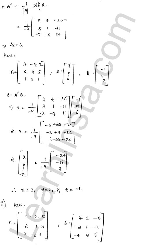 RD Sharma Class 12 Solutions Solution of Simultaneous Linear Equations Chapter 8 Ex 8.1 49