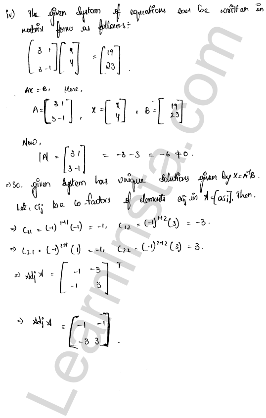 RD Sharma Class 12 Solutions Chapter 8 Solution of Simultaneous Linear Equations Ex 8.1 5
