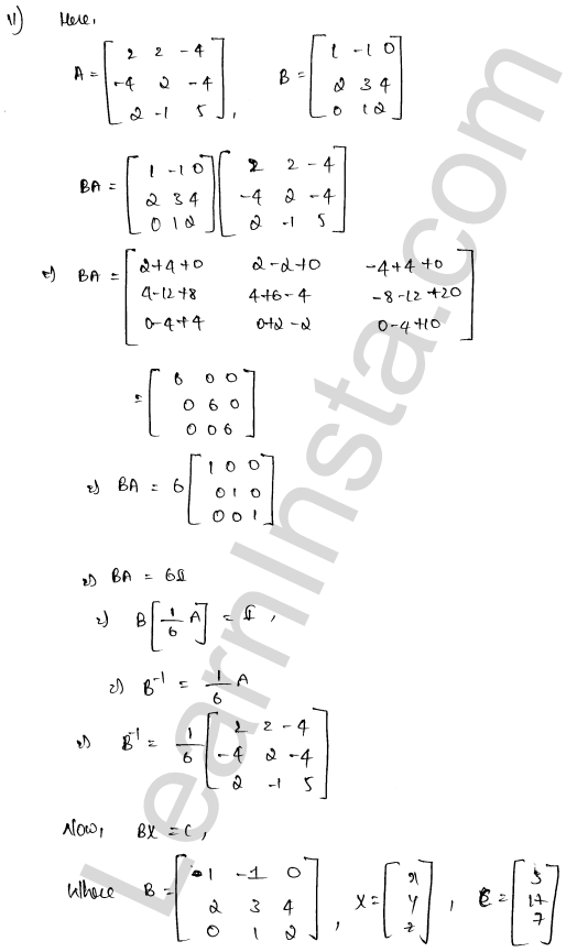 RD Sharma Class 12 Solutions Solution of Simultaneous Linear Equations Chapter 8 Ex 8.1 53