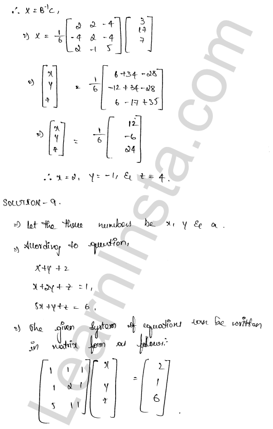 RD Sharma Class 12 Solutions Solution of Simultaneous Linear Equations Chapter 8 Ex 8.1 54