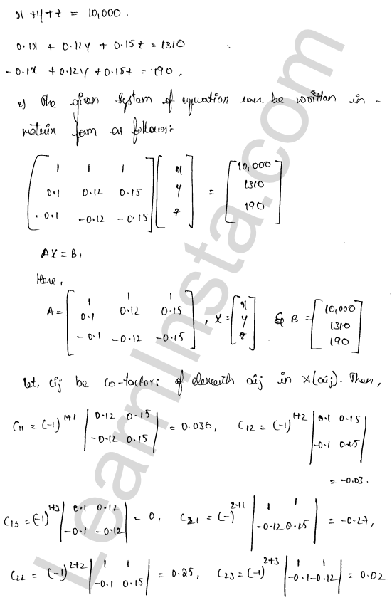 RD Sharma Solutions Class 12 Solution of Simultaneous Linear Equations Chapter 8 Ex 8.1 57
