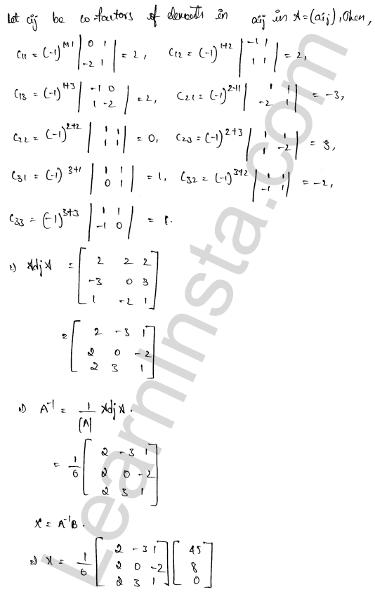 RD Sharma Class 12 Maths Solutions Chapter 8 Solution of Simultaneous Linear Equations Ex 8.1 60