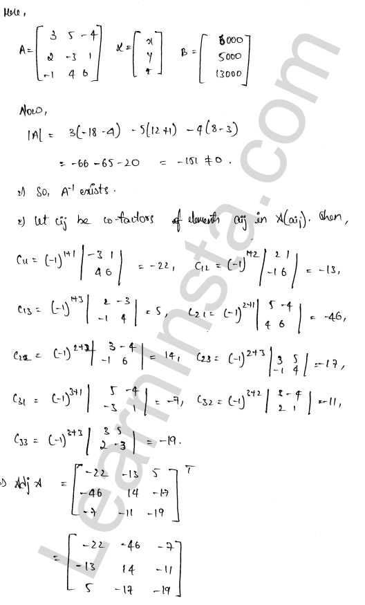 RD Sharma Class 12 Maths Solutions Chapter 8 Solution of Simultaneous Linear Equations Ex 8.1 62