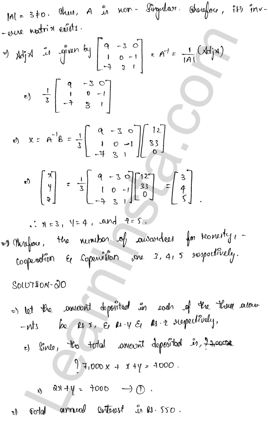 RD Sharma Class 12 Maths Solutions Chapter 8 Solution of Simultaneous Linear Equations Ex 8.1 64