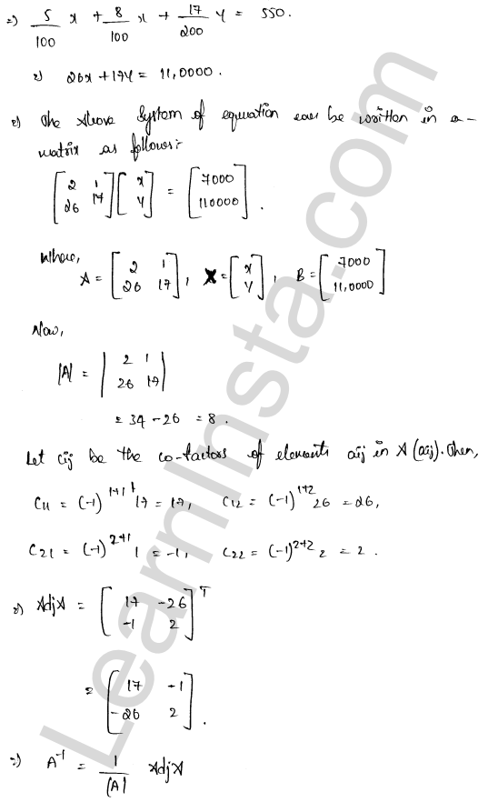 RD Sharma Class 12 Maths Solutions Chapter 8 Solution of Simultaneous Linear Equations Ex 8.1 65
