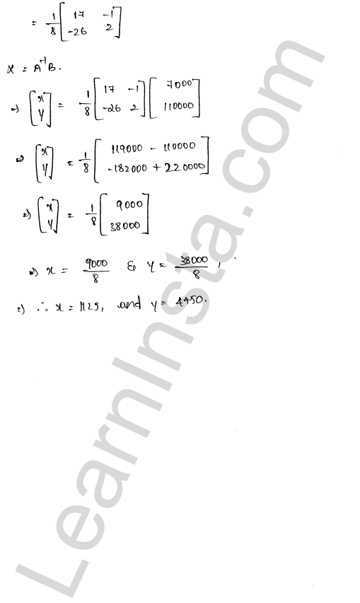 RD Sharma Class 12 Maths Solutions Chapter 8 Solution of Simultaneous Linear Equations Ex 8.1 66