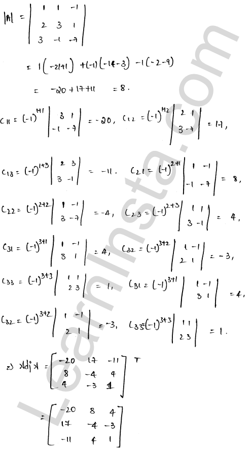 RD Sharma Class 12 Solutions Solution of Simultaneous Linear Equations Chapter 8 Ex 8.1 9
