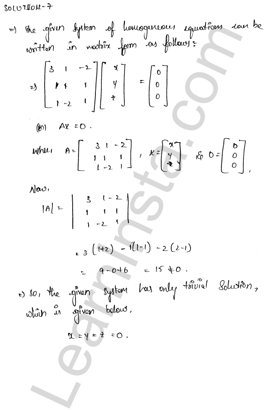 RD Sharma Solutions Class 12 Solution of Simultaneous Linear Equations Chapter 8 Ex 8.2 10
