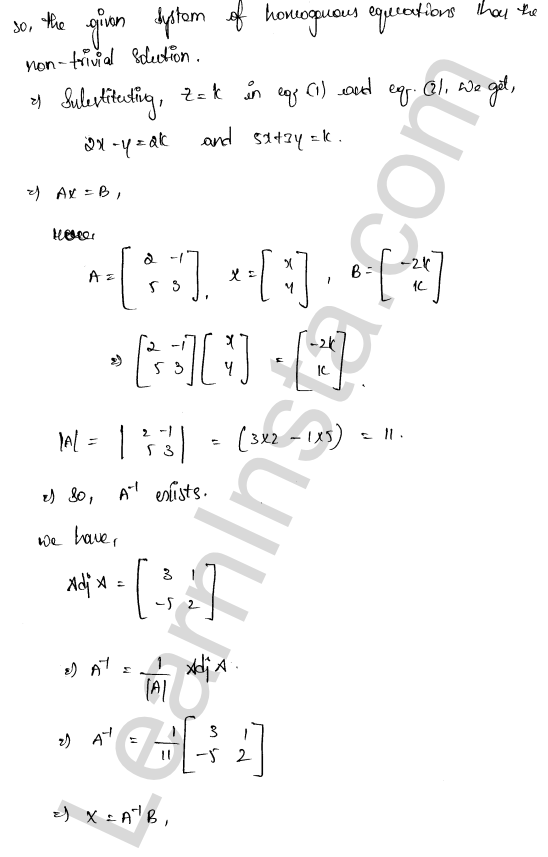 RD Sharma Solutions Class 12 Solution of Simultaneous Linear Equations Chapter 8 Ex 8.2 3