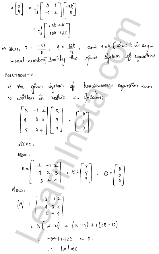 RD Sharma Class 12 Maths Solutions Chapter 8 Solution of Simultaneous Linear Equations Ex 8.2 4
