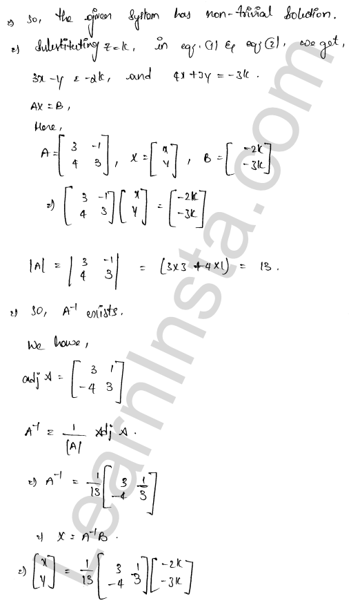 solution of RD Sharma class 12 chapter 8 Solution of Simultaneous Linear Equations Ex 8.2 5