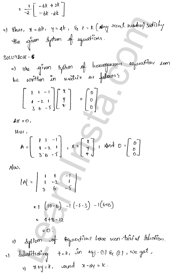 RD Sharma Class 12 Solutions Chapter 8 Solution of Simultaneous Linear Equations Ex 8.2 8