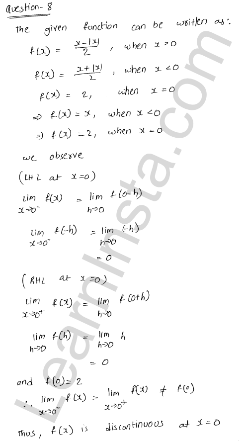 RD Sharma Class 12 Solutions Continuity Chapter 9 Ex 9.1 10