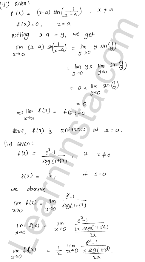 RD Sharma Solutions Class 12 Continuity Chapter 9 Ex 9.1 13
