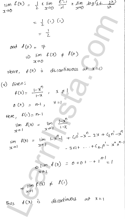 RD Sharma Solutions Class 12 Continuity Chapter 9 Ex 9.1 14