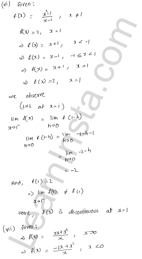 RD Sharma Solutions Class 12 Continuity Chapter 9 Ex 9.1 15