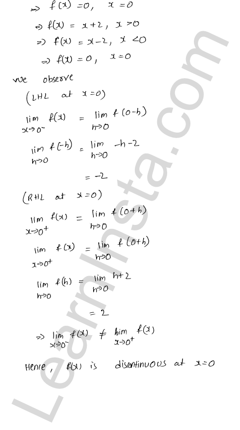 RD Sharma Class 12 Maths Solutions Chapter 9 Continuity Ex 9.1 16
