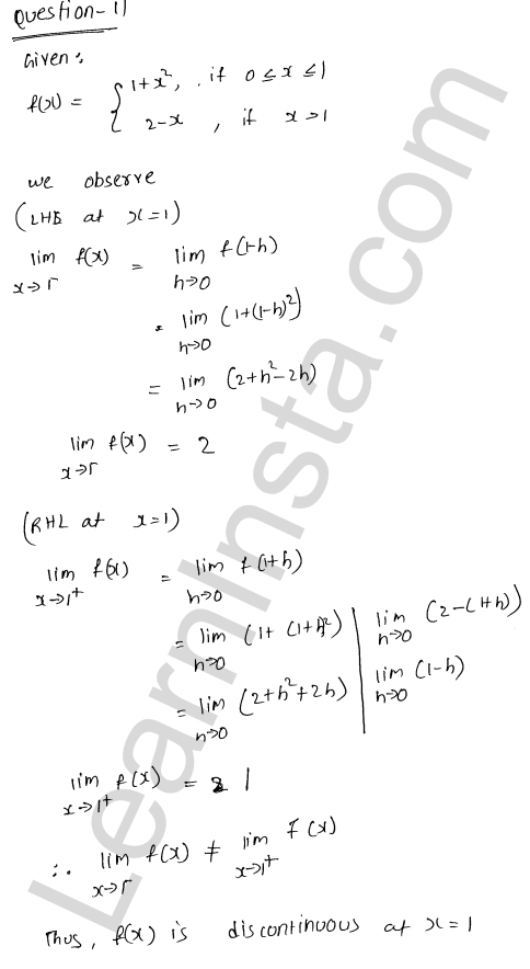 RD Sharma Class 12 Maths Solutions Chapter 9 Continuity Ex 9.1 17