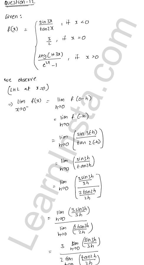 RD Sharma Class 12 Maths Solutions Chapter 9 Continuity Ex 9.1 18
